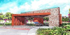 Modern Entrance, Entrance Design, Gate Design, Facade Design, Entrance Gates, Main Entrance, House Entrance, Main Gate, Compound Wall Design