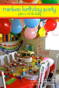 This Cozy Home: Rainbow Birthday Party