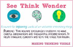 Visible Thinking Routines: SEE THINK WONDER