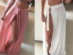 Patrón falda pareo para la playa