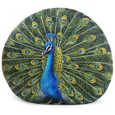 A new commissioned peacock hand painted on a perfectly sized rock! Do you wanna order your favorite animal? Contact me at robertorizzo72@gmail.com or visit my shop: www.RobertoRizzoArt.etsy.com