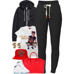 A fashion look from February 2015 featuring t shirts, H&M and black sweatpants. Browse and shop related looks.