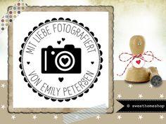 Stempel ♥ MIT LIEBE FOTOGRAFIERT + NAME ♥  Ø 30 mm