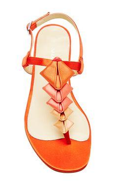 Sarah Flint Simone Coral Ombre Sandal by Sarah Flint for Preorder on Moda Operandi