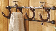 horseshoes towel holder