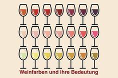 Die Weinfarben sind eines der größten Unterscheidungsmerkmale von Wein überhaupt. Je nach Rebsorte, Herstellung und Alter unterscheidet sich die Farbe des Weins erheblich. Was die Weinfarben über den Wein verraten...
