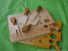 New wooden cheese knifes currently in design mode in my workshop! :) Do you like?