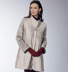 Misses' High-Neck High-Waist Coat and Vest