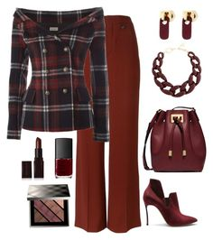 """""""How Fitting"""" by nayla-darkstone ❤ liked on Polyvore featuring Chloé, Faith Connexion, Casadei, Michael Kors, DIANA BROUSSARD, Marc by Marc Jacobs, Laura Mercier, NARS Cosmetics and Burberry"""