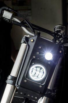 Yamaha Street Tracker by Ace Custom Shop - Farklı Motor Çeşitleri Tracker Motorcycle, Bobber Motorcycle, Cafe Racer Motorcycle, Motorcycle Design, Bike Design, Motorcycle Adventure, Motorcycle Lights, Motorcycle Headlight, Street Tracker