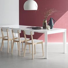 Jelly Chair by Connubia Calligaris in White & Beech - Nuastyle New Furniture, Furniture Design, Dining Chairs, Dining Table, Modern Spaces, Furniture Collection, Console Table, Space Saving, Office Desk