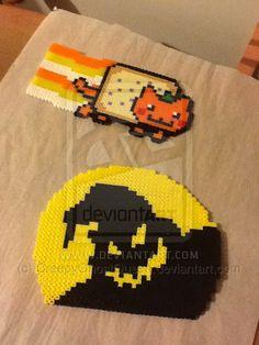 Halloween Perler Beads by CreepyGhostQueen on deviantART