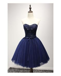 cute A-line homecoming dresses, navy blue homecoming dresses, beaded homecoming dresses, short prom dresses, formal dresses, party dresses, graduation dresses#SIMIBridal #homecomingdresses