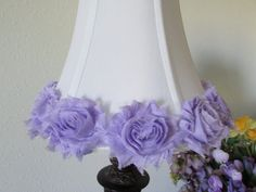 Lavender rose Lamp Shade Shabby Chic Lamp Shade by MODARAGEHOME