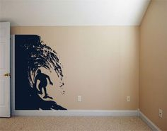 Dude in the Barrel - Hawaiian Style - Vinyl wall art Graphic sticker decals by 3rdaveshore  Ask a Question $203.00