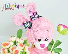 PATTERN Love Bunny Amigurumi Crochet от HavvaDesigns на Etsy