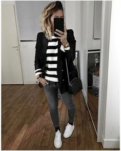 ❤️p i n t e r e s t ❤️ : toridaretodream Fall Outfits, Casual Outfits, Fashion Outfits, Moda Fashion, Womens Fashion, Look Blazer, Look Girl, Casual Chic Style, Chic Chic