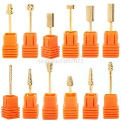 New Nail Drill Bits File Grinding Electric Machine Manicure Pedicure Tool Kit Manicure Y Pedicure, Pedicure Tools, Pedicure Kit, Nail Art Tool Kit, Nail Art Tools, Round Nails, Oval Nails, Nail Art Machine, Red Carpet Manicure