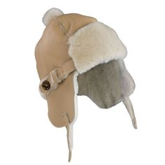 This has to be the most stylish hat to add warmth and protection to your little ones head. Made from super soft and cozy sheepskin, and topped off with a fur pom pom for cuteness. The snap buttons allow for the hat to be secured under the chin. Tan House, Angel Outfit, Trapper Hats, Stylish Hats, Baby Warmer, Fur Pom Pom, Elks, Baby Hats, Warm And Cozy