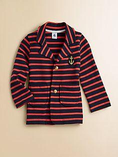 Petit Bateau Girl's Striped Blazer