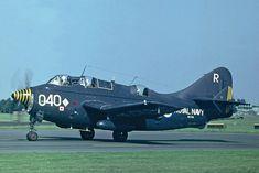 """みほり@Mr.角刈りガンビーさんのツイート: """"FAAのガネット、全部ペンギン塗装かと思ったら、艦上輸送機任務に就いたCOD.4は全面エクストラダークシーグレイだったのね。これはなかなかシックで良いねぇ。… """" Navy Aircraft, Ww2 Aircraft, Aircraft Carrier, Military Aircraft, Military Jets, Air Space, Aviation Art, Historical Pictures, Royal Navy"""