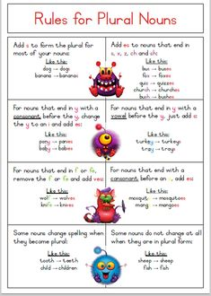 singular and plural nouns games for the classroom - Google Search