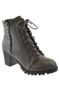 Baxter 08X Womens Chunky Heel Ankle Booties Grey >>> Continue to the product at the image link.