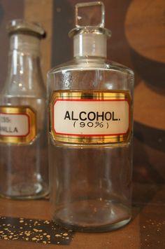 Large Antique Apothecary Pharmacy Bottle by TheLotAntiquesandArt