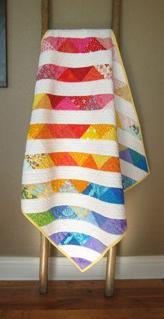 0a242a649 Every Rainbow baby deserves a Rainbow Quilt! Beautiful cascading design