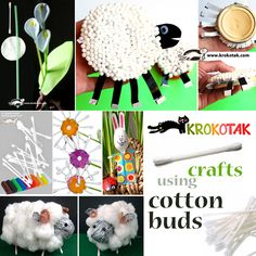 crafts using cotton buds