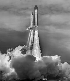 """Fusion Imaging of the Final Space Shuttle Launch"" #NASA #cool"