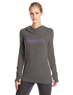 Bench Womens Essential Sweatshirt Anthracite Marl Small *** Click image for more details. Boutique Dresses, Boutique Clothing, Boutique Shop, Outdoor Woman, Active Wear For Women, Lounge Wear, Graphic Sweatshirt, Fit Moms, Sweatshirts