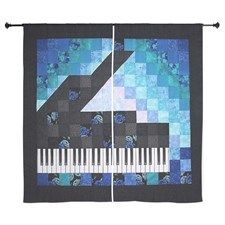 Piano Quilt Art - by ? Small Quilt Projects, Quilting Projects, Quilting Designs, Quilting Ideas, Quilt Design, Lap Quilts, Small Quilts, Mini Quilts, Quilt Blocks