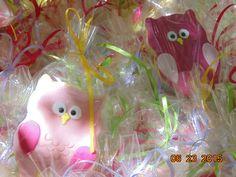 Sugarpaste owl cookies