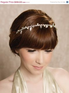 SALE Silver or Gold Pearl Bridal Hair Piece by GildedShadows, $61.20
