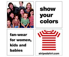 striped shirt ad