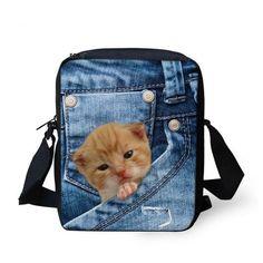 Men Messenger Bags Cool Animals Wolf Shoulder Bag