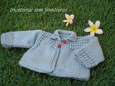 tricoteiras sem fronteiras: casaquinho com senhoras joaninhas