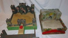 Vintage Triang Fort or Castle with 2 Sections Draw Bridge 1940s #Triang