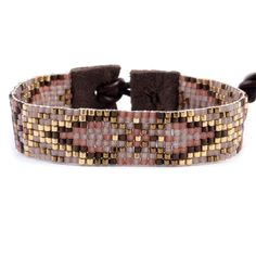 Chan Luu - Red Mix Single Wrap Bracelet on Brown Leather, $120.00 (http://www.chanluu.com/bracelets/red-mix-single-wrap-bracelet-on-brown-leather/)