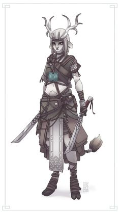 Character design - Norse Warriors - ELKA by maaarudesign