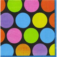 Bright Dots beverage napkin $5/50