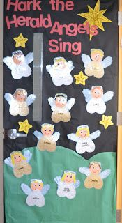 I would love to put my students' pictures on the angels.