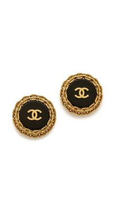 What Goes Around Comes Around Vintage Chanel Chain Around CC Earrings