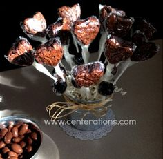 Brownie Bites Make An Awesome Edible Centerpiece