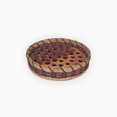 This Amish handmade and stackable communion cup serving tray basket is skillfully woven to provide natural beauty and an earthy look and feel for your church's communion service. Each of these natural Communion Trays, Amish, Earthy, Natural Wood, Decorative Bowls, Hand Weaving, Basket, Carving, Simple