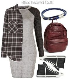 Topshop pattern bodycon dress / R13 top / Converse shoes / Liebeskind backpack / McQ by Alexander McQueen mini charm, $96