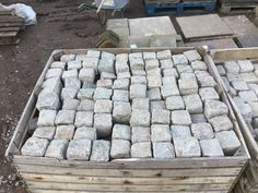 Squared Granite Cobbles are in stock and on display, call us on 01580201258 or visit our yard in Stonegate, East Sussex East Sussex, Granite, Stepping Stones, Garden Design, Yard, This Or That Questions, Outdoor Decor, Stair Risers, Patio