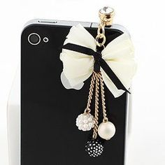 Earphone Jack Plated Gold Beige Bow Colored Small Beads / Cell Charms / Dust Plug / Ear Jack For Iphone 4 4S / iPad / iPod Touch / Other 3.5mm Ear Jack by brandbuy, http://www.amazon.com/dp/B008JEXIHQ/ref=cm_sw_r_pi_dp_QD4nrb02G3ZCJ