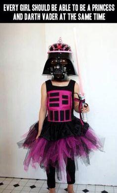 if we ever have a girl, she'll be able to be a princess and Darth Vader at the same time.